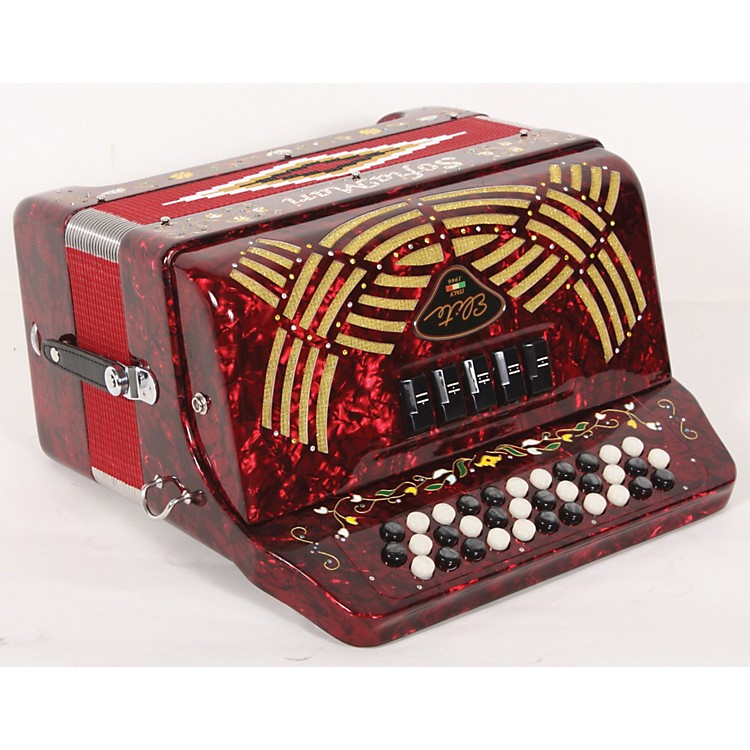 SofiaMari 5-Switch Accordion Red Pearl, Fa 889406756533