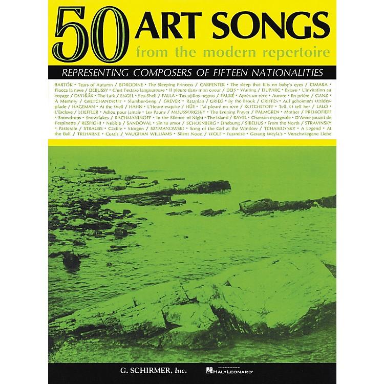 G. Schirmer50 Art Songs From The Modern Repertoire Voice / Piano