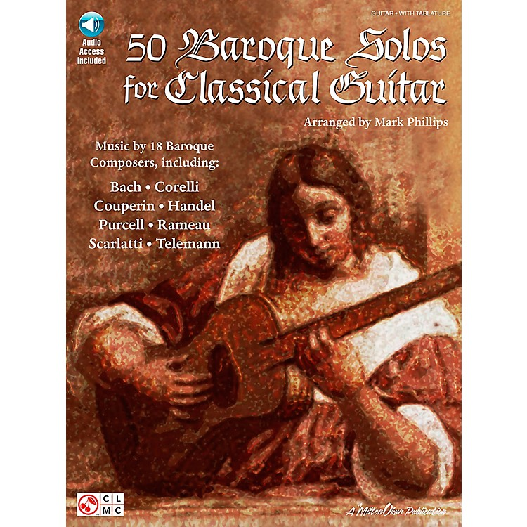 Hal Leonard 50 Baroque Solos for Classical Guitar Book with CD