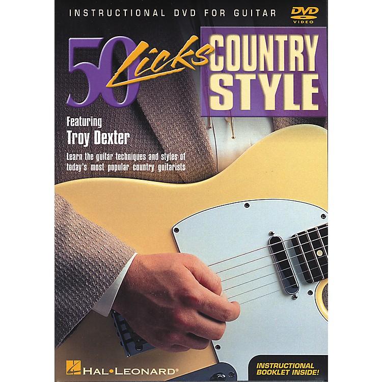 Hal Leonard50 Licks Country Style DVD