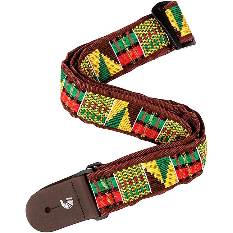 D'Addario Planet Waves50 mm Nylon Guitar Strap, African WeaveMulti-Colored2 in.
