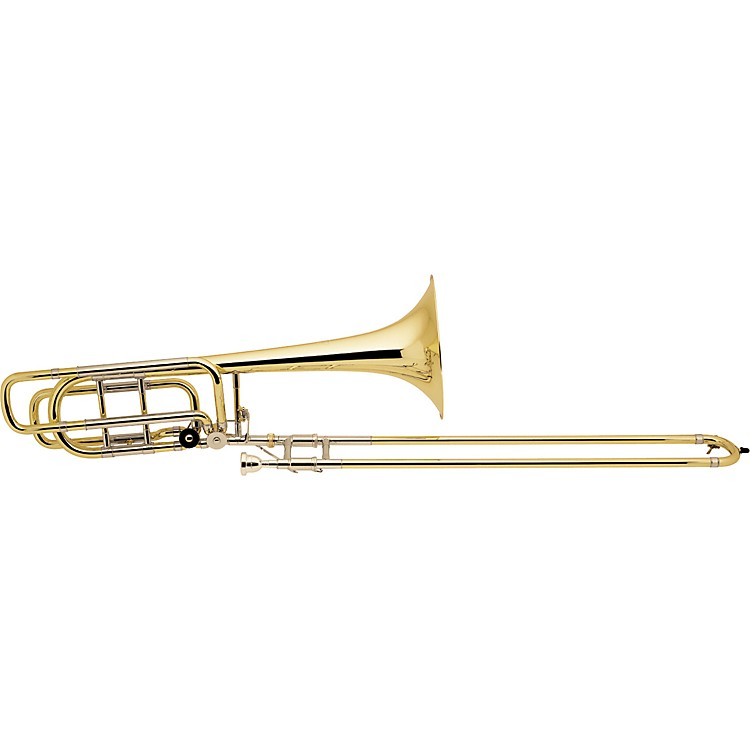 Bach 50A Series Bass Trombone with Hagmann Valve 50A3 Lacquer 9.5- in. Yellow Brass Bell
