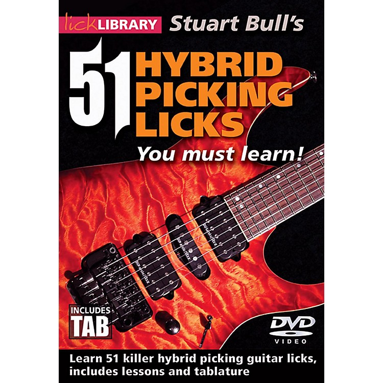 Hal Leonard 51 Hybrid Picking Licks You Must Learn - Lick Library DVD