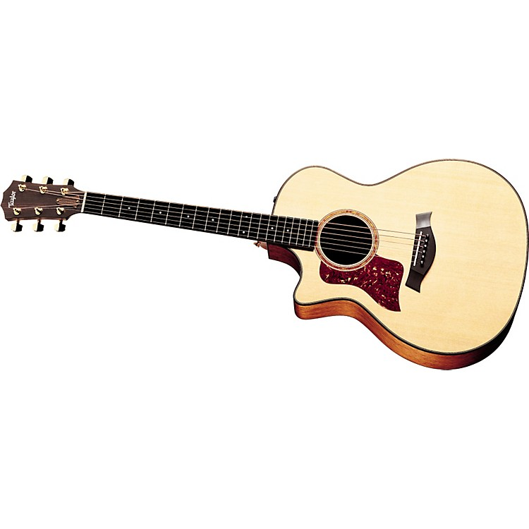 Taylor514-CE Left-Handed Grand Auditorium Acoustic-Electric Guitar (2010 Model)Natural