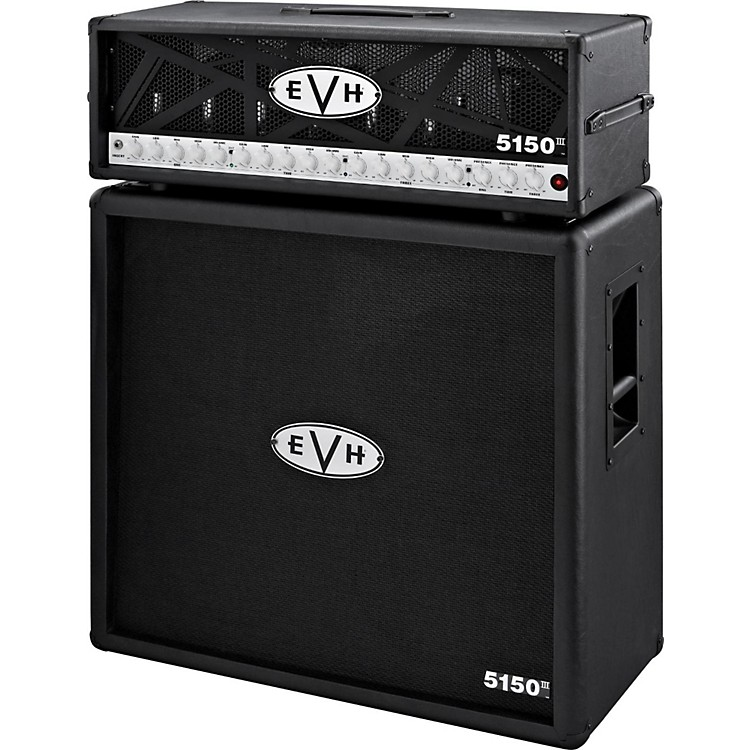 EVH5150 III 100W Guitar Tube Head Black with 5150 III 412 Guitar Cab Black