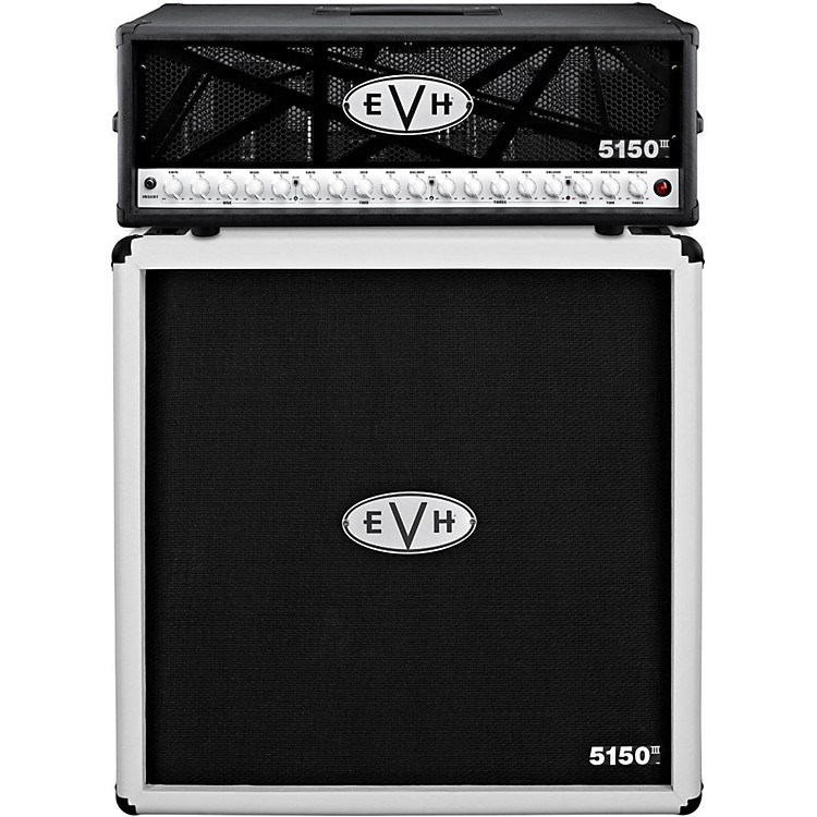 EVH5150 III 100W Guitar Tube Head Black with 5150 III 412 Guitar Cab Ivory