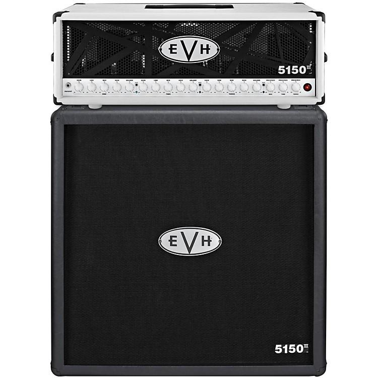 EVH5150 III 100W Guitar Tube Head Ivory with 5150 III 412 Guitar Cab Black