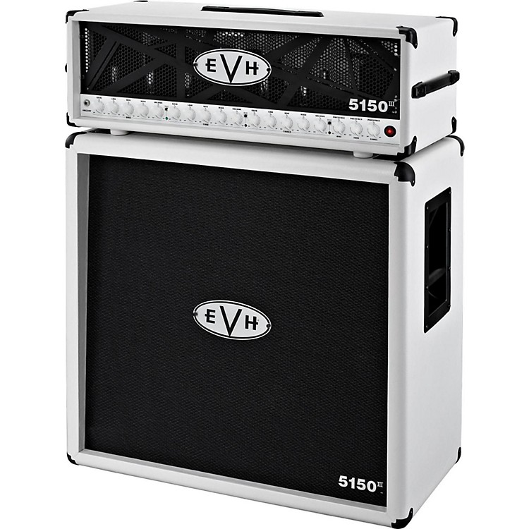 EVH 5150 III 100W Guitar Tube Head Ivory with 5150 III 412 Guitar ...