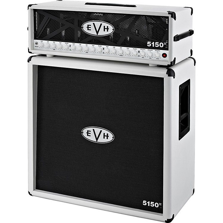 EVH 5150 III Head and 4x12 Half Stack Ivory