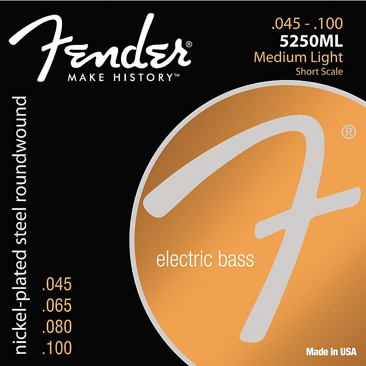 Fender 5250ML Nickel-Plated Steel Short Scale Bass Strings - Medium Light