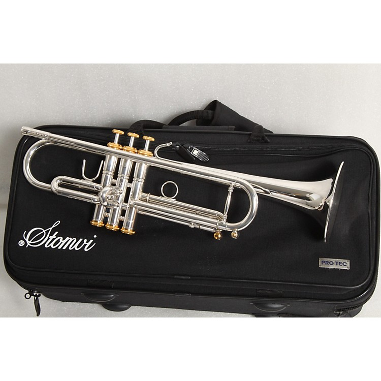 Stomvi 5336 Elite 330-ML Lightweight Series Bb Trumpet Silver 886830227523