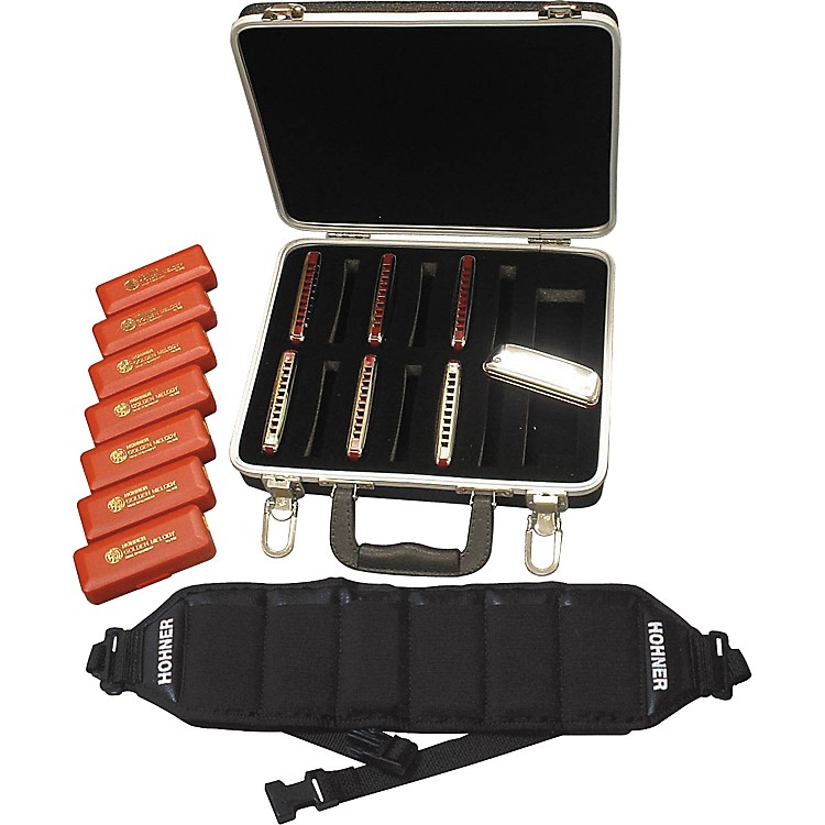 Hohner542/20 Golden Melody Harmonica Pack with Case and Belt
