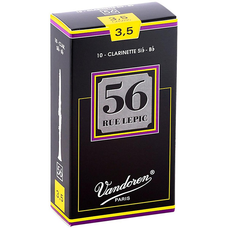 Vandoren 56 Rue Lepic Bb Clarinet Reeds Strength 3.5 Box of 10