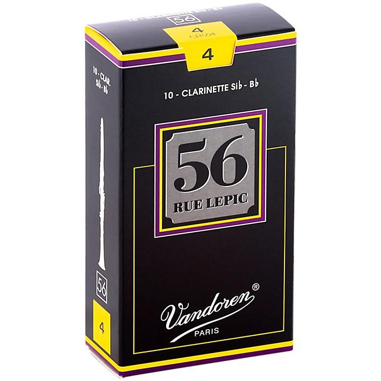 Vandoren56 Rue Lepic Bb Clarinet ReedsStrength 4Box of 10