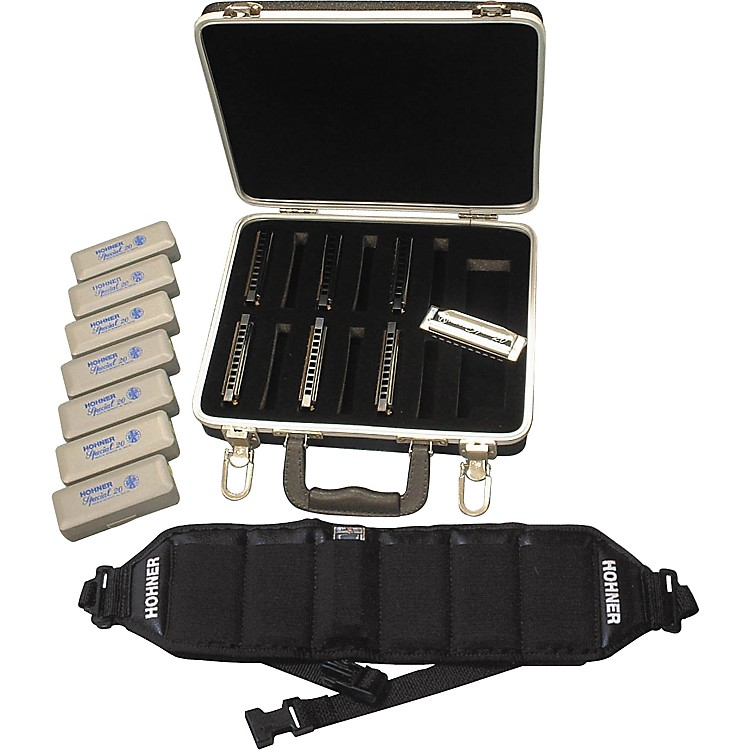 Hohner 560/20 Special 20 Harmonica Pack with Case and Belt