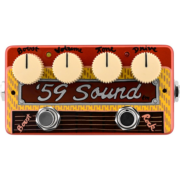ZVex'59 Sound Hand-Painted Overdrive Effects Pedal