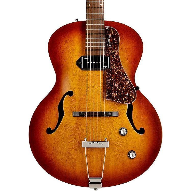 Godin 5th Avenue Kingpin Archtop Hollowbody Electric Guitar With P-90 Pickup Cognac Burst