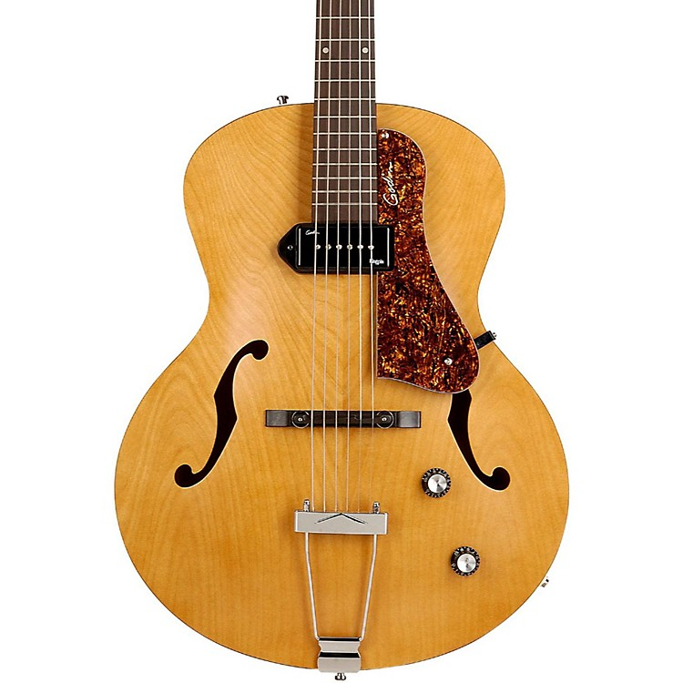 Godin 5th Avenue Kingpin Archtop Hollowbody Electric Guitar With P-90 Pickup Natural