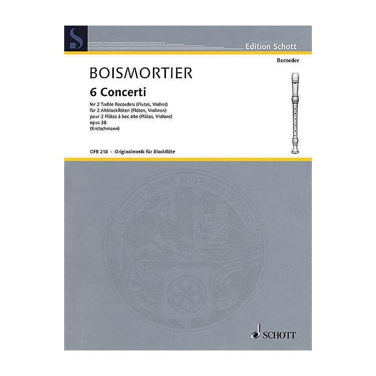 Schott6 Concerti, Op. 38 Woodwind Ensemble Series Softcover  by Johann Bodin de Boismortier