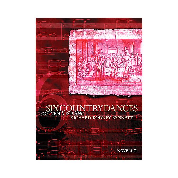 Novello6 Country Dances (Viola and Piano Accompanimnet) Music Sales America Series