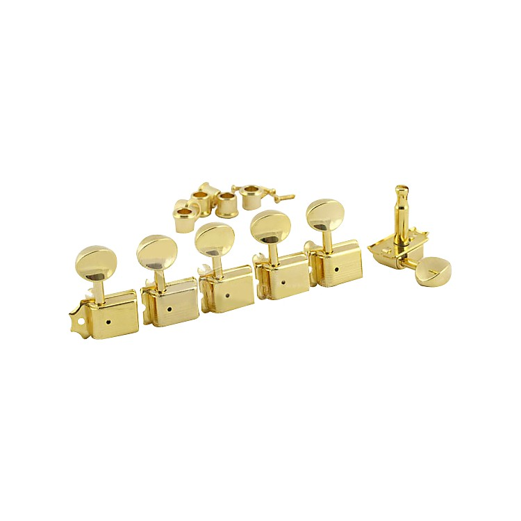 Kluson 6 In-Line Vintage Tuning Machines Gold