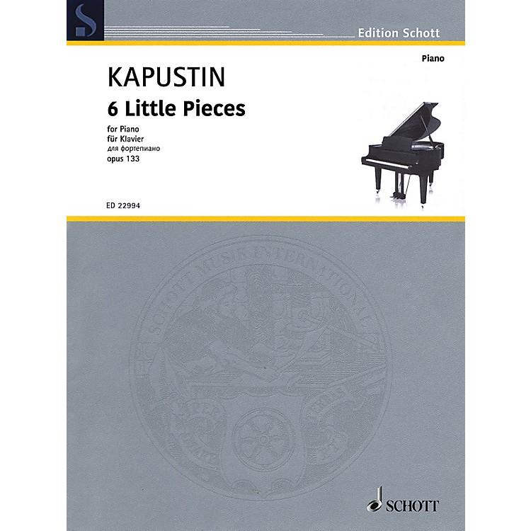Schott6 Little Pieces, Op. 133 Piano Solo by Kapustin