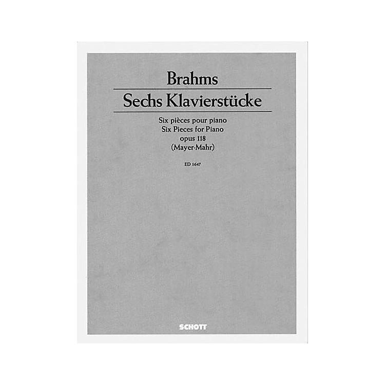 Schott6 Piano Pieces, Op. 118 Schott Series