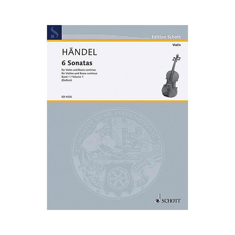 Schott Music6 Sonatas - Vol. 1 Schott Series Composed by Georg Friedrich Händel
