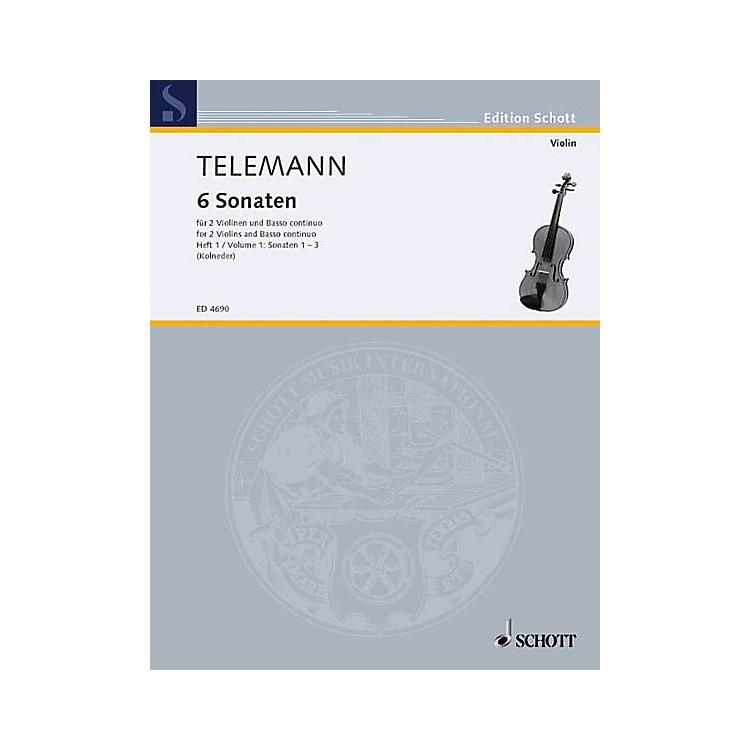 Schott6 Sonatas - Vol. 1:1-3 Schott Series Composed by Georg Philipp Telemann