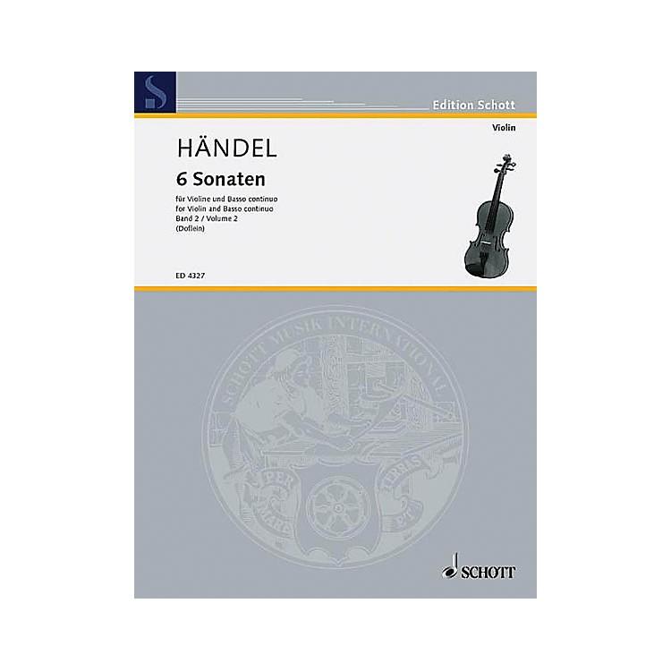 Schott Music6 Sonatas - Vol. 2 Schott Series Composed by Georg Friedrich Händel