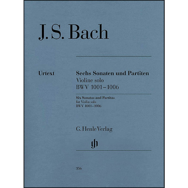 G. Henle Verlag6 Sonatas And Partitas BWV 1001-1006 for Violin By Bach