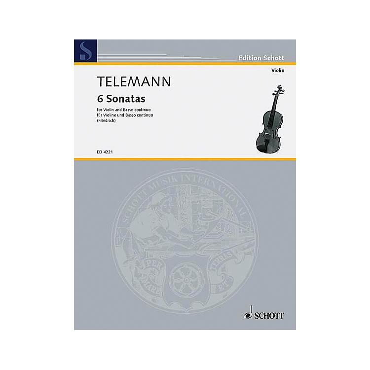 Schott Music6 Sonatas Schott Series Composed by Georg Philipp Telemann