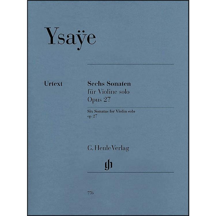 G. Henle Verlag6 Sonatas for Violin Solo Op. 27 By Ysaye