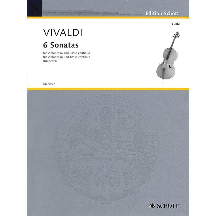Schott6 Sonatas (for Violoncello and Basso Continuo) Schott Series