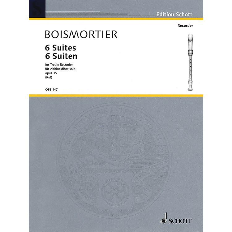 Schott6 Suites Op. 35 (for Treble Recorder) Schott Series