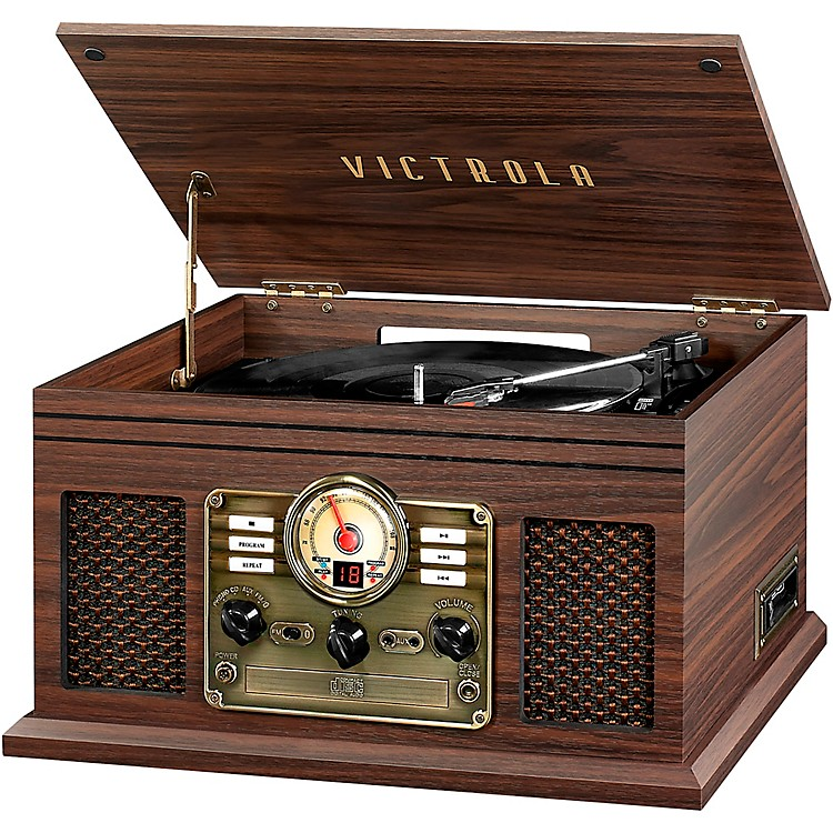 Victrola6-in-1 Nostalgic Bluetooth Record Player with CD, Cassette and RadioGraphite