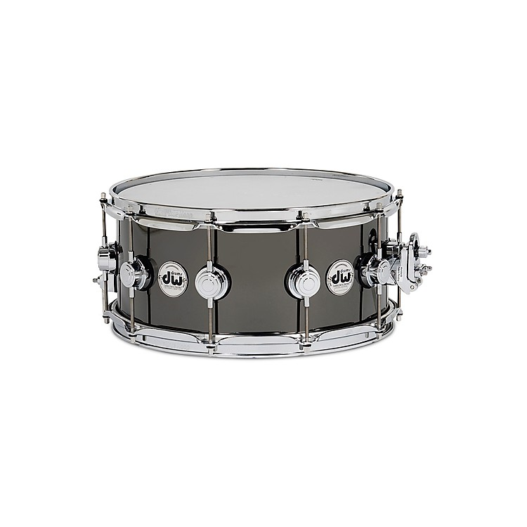 DW6.5x14in Collector's Series Snare Drum Black Nickel Over Brass with Chrome Hardware