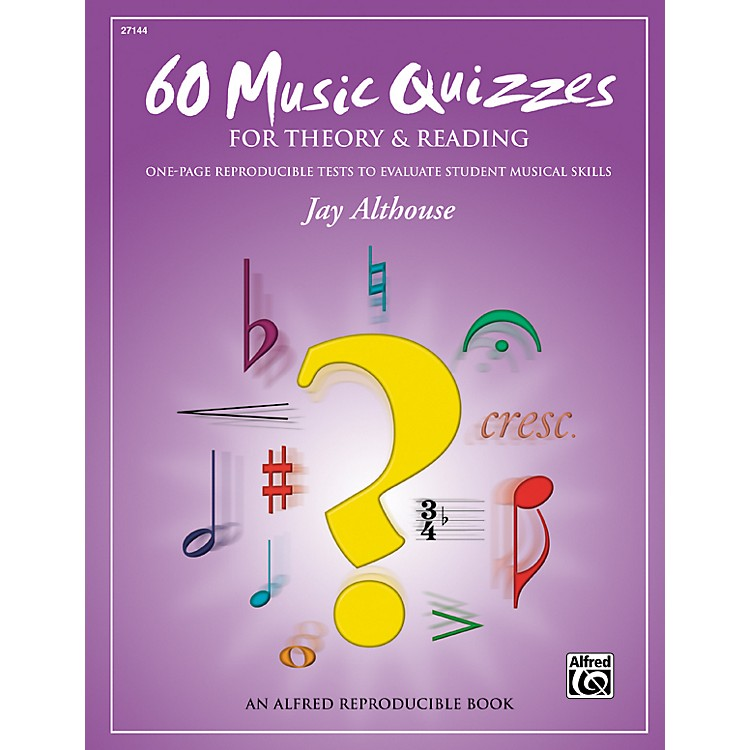 Alfred60 Music Quizzes for Theory and Reading (Book)