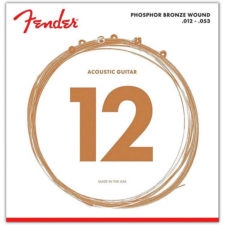 Fender60L Phosphor Bronze Acoustic Strings - Light