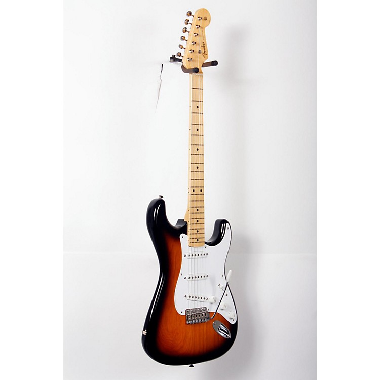 Fender 60th Anniversary American Vintage 1954 Stratocaster Electric Guitar 2-Color Sunburst, Maple Fingerboard 888365742755