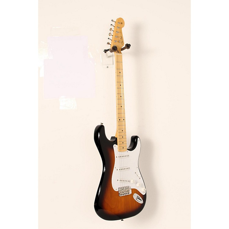 Fender 60th Anniversary American Vintage 1954 Stratocaster Electric Guitar 2-Color Sunburst, Maple Fingerboard 888365821283