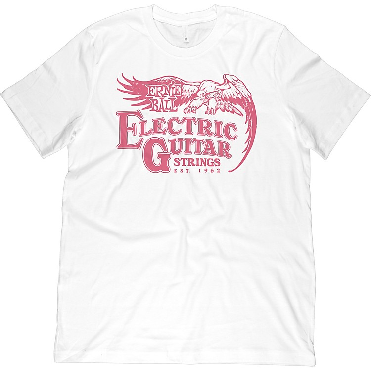 Ernie Ball 62' Electric Guitar T-Shirt Small White