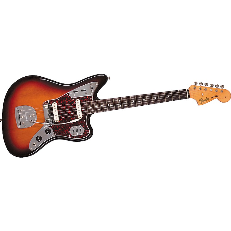 Fender '62 Jaguar Electric Guitar 3-Color Sunburst Brown Shell Pickguard