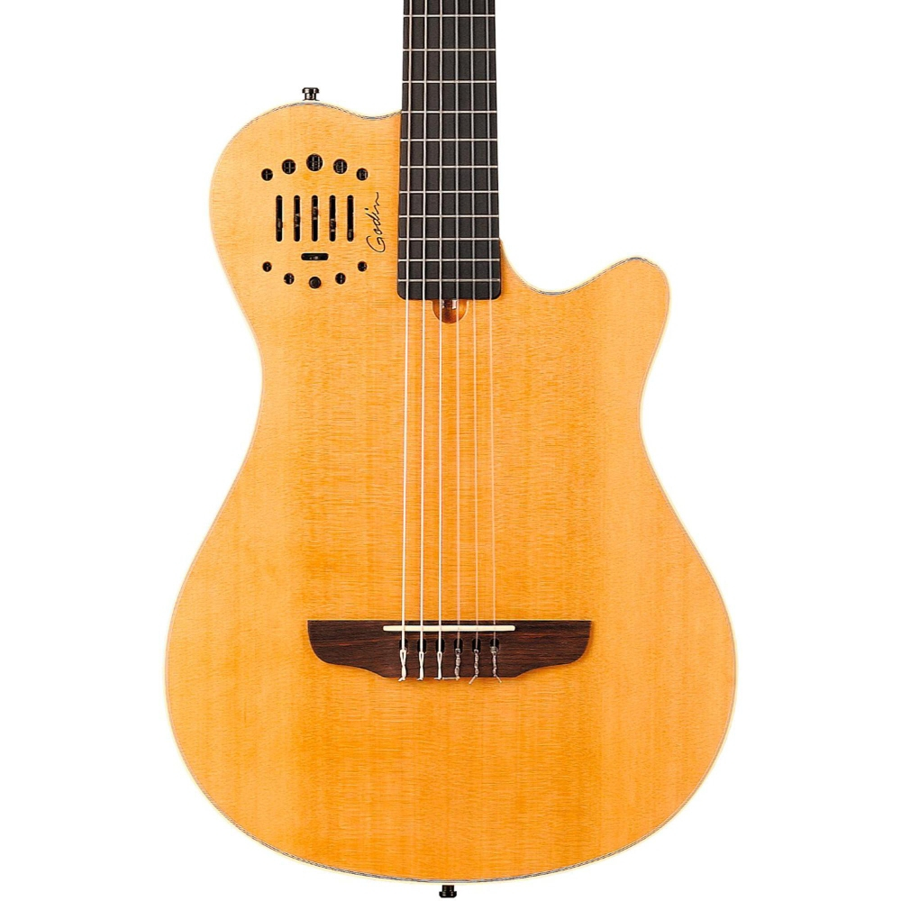 Godin Multiac Grand Concert Duet Ambiance Nylon String A/E Guitar High  Gloss item# 1275776905459