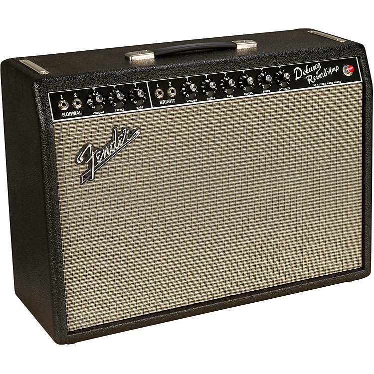 Fender'64 Custom Deluxe Reverb 20W 1x12 Tube Guitar Combo AmpBlack