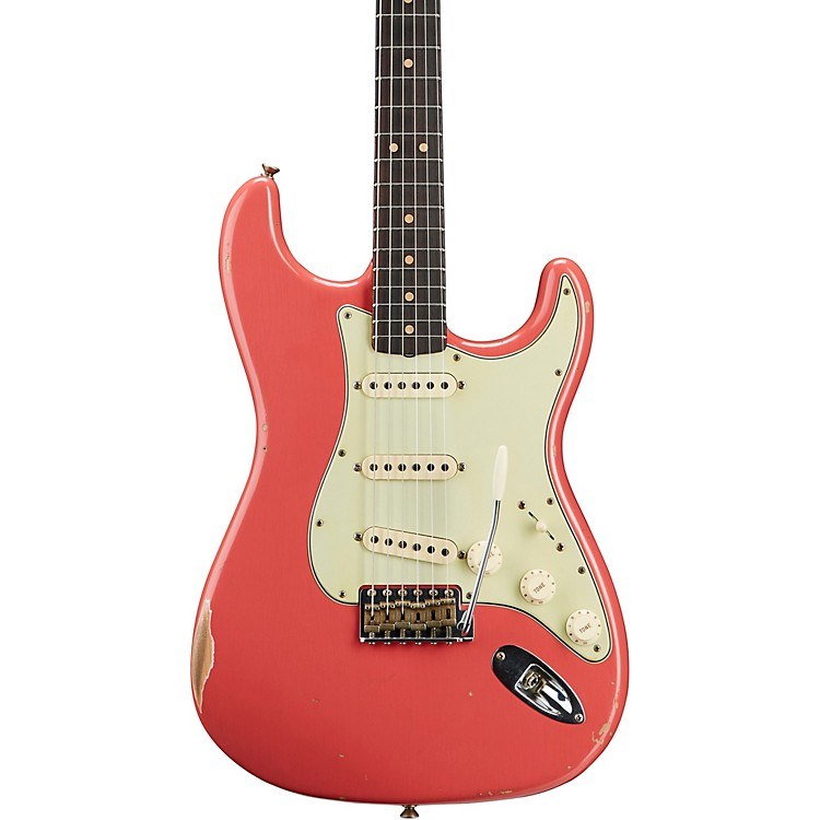 Fender Custom Shop'64 Stratocaster Relic Flame Maple Neck NAMM Limited-Edition Electric GuitarFaded Fiesta Red