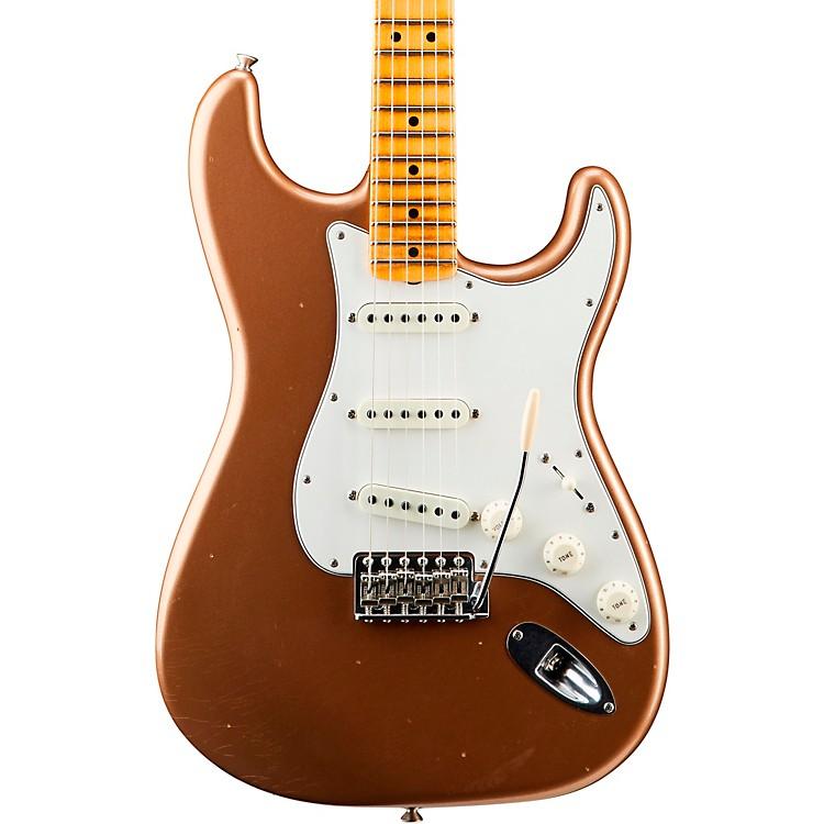 Fender Custom Shop'65 Journeyman Stratocaster Closet Classic Maple Fingerboard Electric GuitarFaded Aged Fire Mist Gold