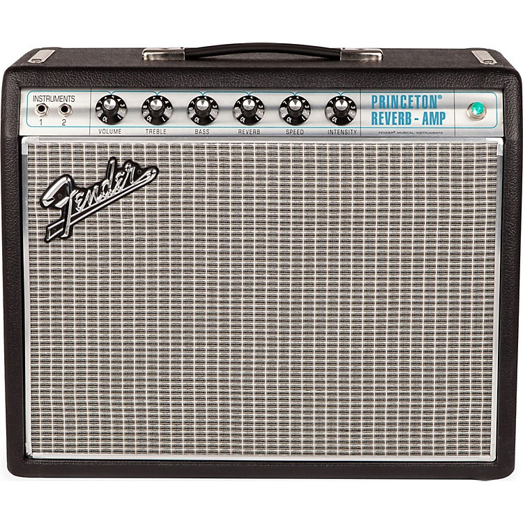 Fender '68 Custom Princeton Reverb 12W 1x10 Tube Guitar Combo Amp with Celestion Ten 30 Speaker Black 888365905471
