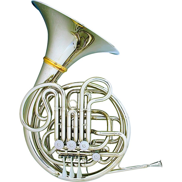 Hans Hoyer 6801NSA-L Nickel Silver Heritage Double Horn Nickel Silver Fixed Bell