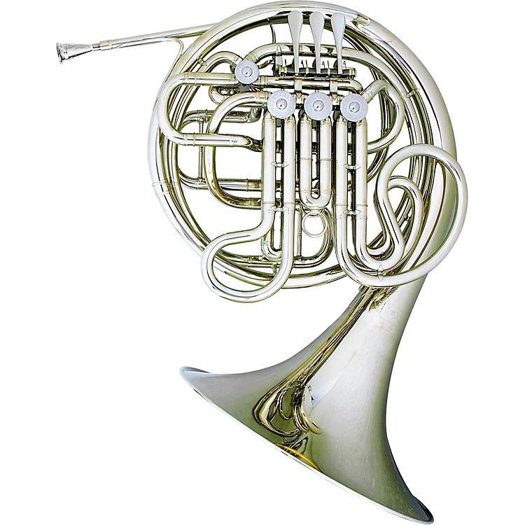 Hans Hoyer6802NS Heritage Kruspe Series Double Horn with String Linkage and Fixed BellNickel SilverFixed Bell